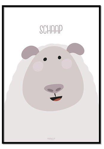 Poster schaap met tekst