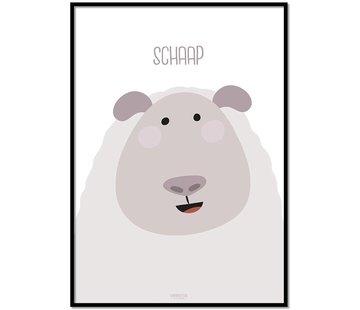 Lievespulletjes Poster schaap met tekst