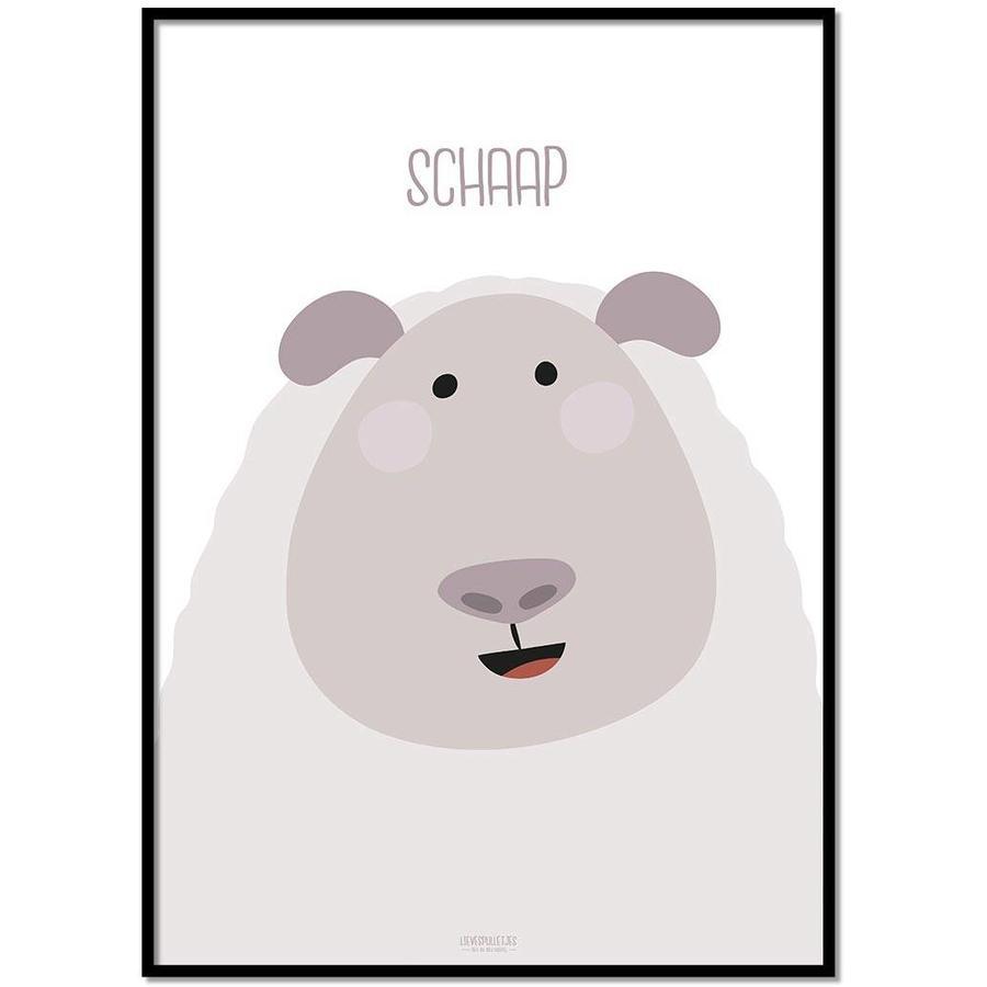 Poster kinderkamer schaap met tekst-1