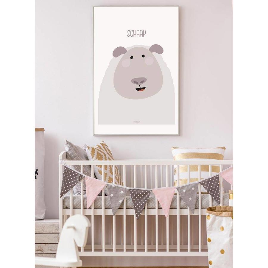 Poster kinderkamer schaap met tekst-5