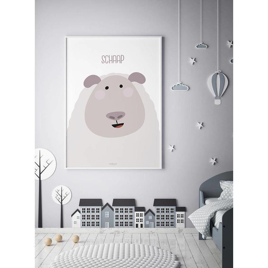 Poster kinderkamer schaap met tekst-2