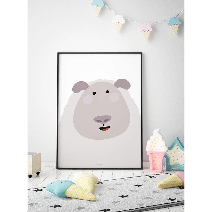 Poster kinderkamer schaap-3