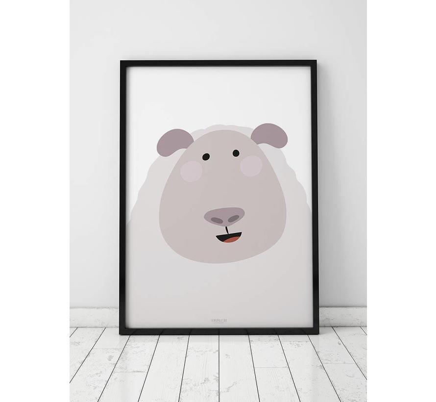 Poster kinderkamer schaap