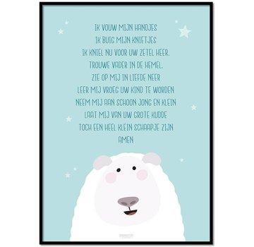 Lievespulletjes Poster kindergebed ik vouw mijn handjes mint