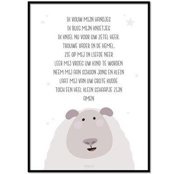 Lievespulletjes Poster kindergebed ik vouw mijn handjes wit