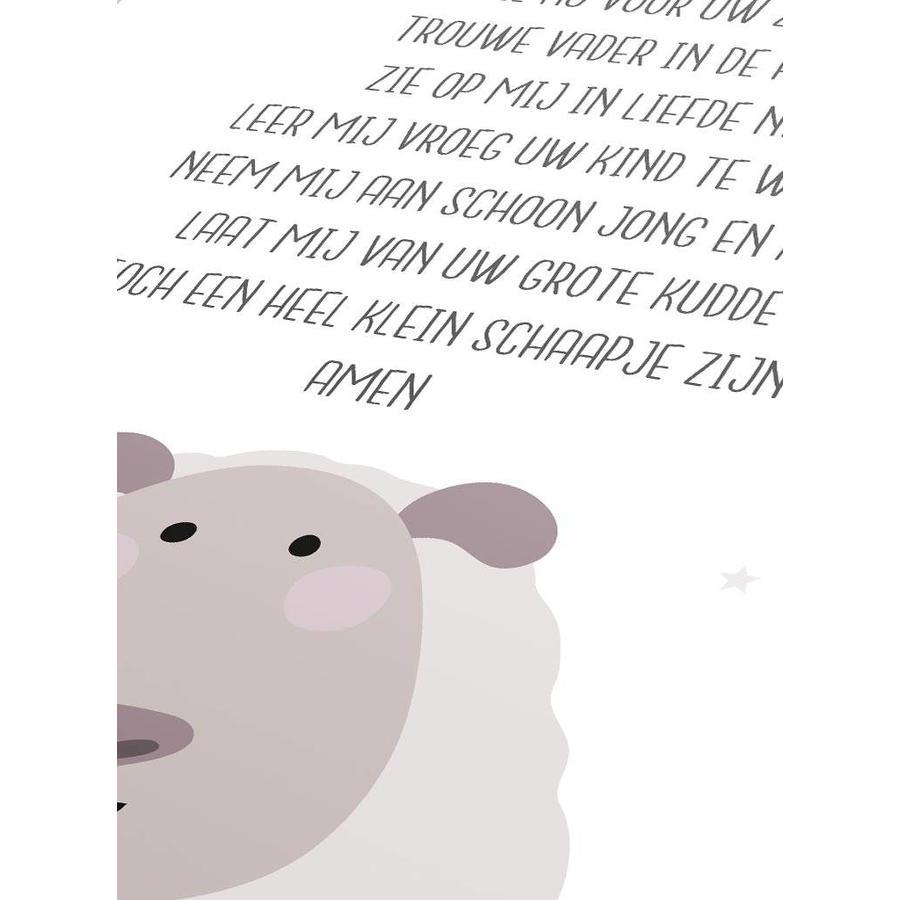 Poster christelijk kindergebed ik vouw mijn handjes wit-3