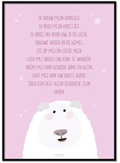 Lievespulletjes Poster kindergebed ik vouw mijn handjes roze