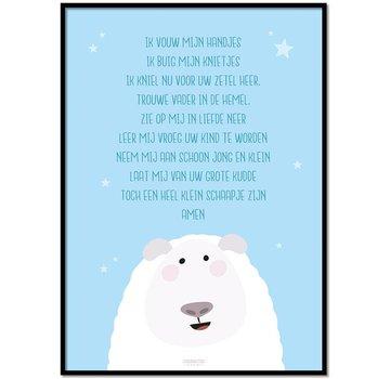 Lievespulletjes Poster kindergebed ik vouw mijn handjes blauw