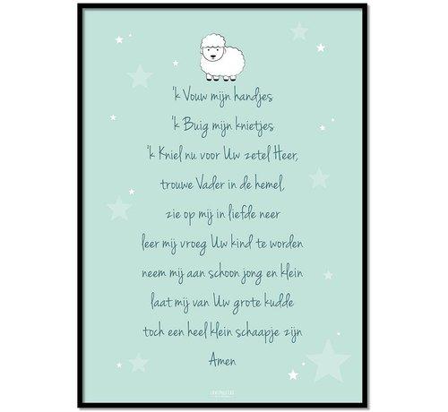 Lievespulletjes Poster christelijk kindergebed ik vouw mijn handjes mint