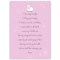thumb-Poster christelijk kindergebed ik vouw mijn handjes roze-5