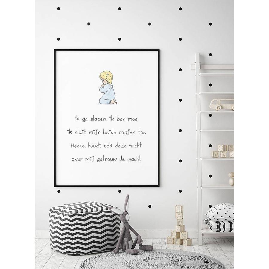 Poster christelijk kindergebed ik ga slapen ik ben moe-2
