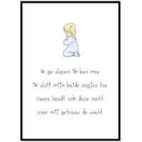 thumb-Poster christelijk kindergebed ik ga slapen ik ben moe-1