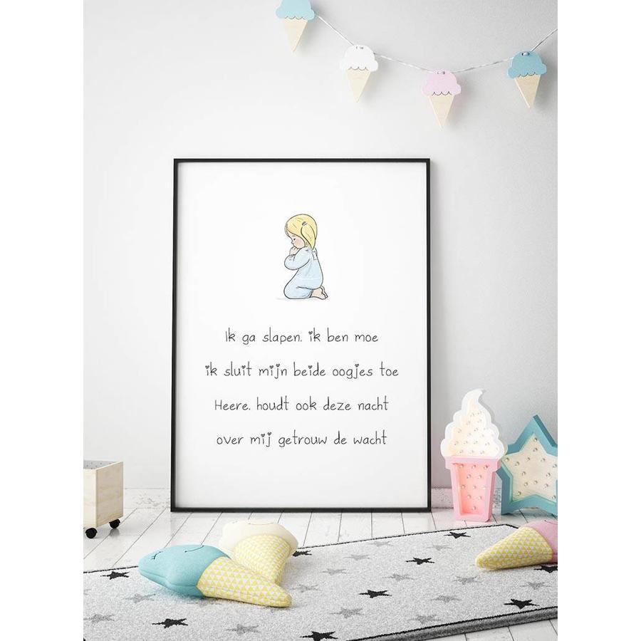 Poster christelijk kindergebed ik ga slapen ik ben moe-5