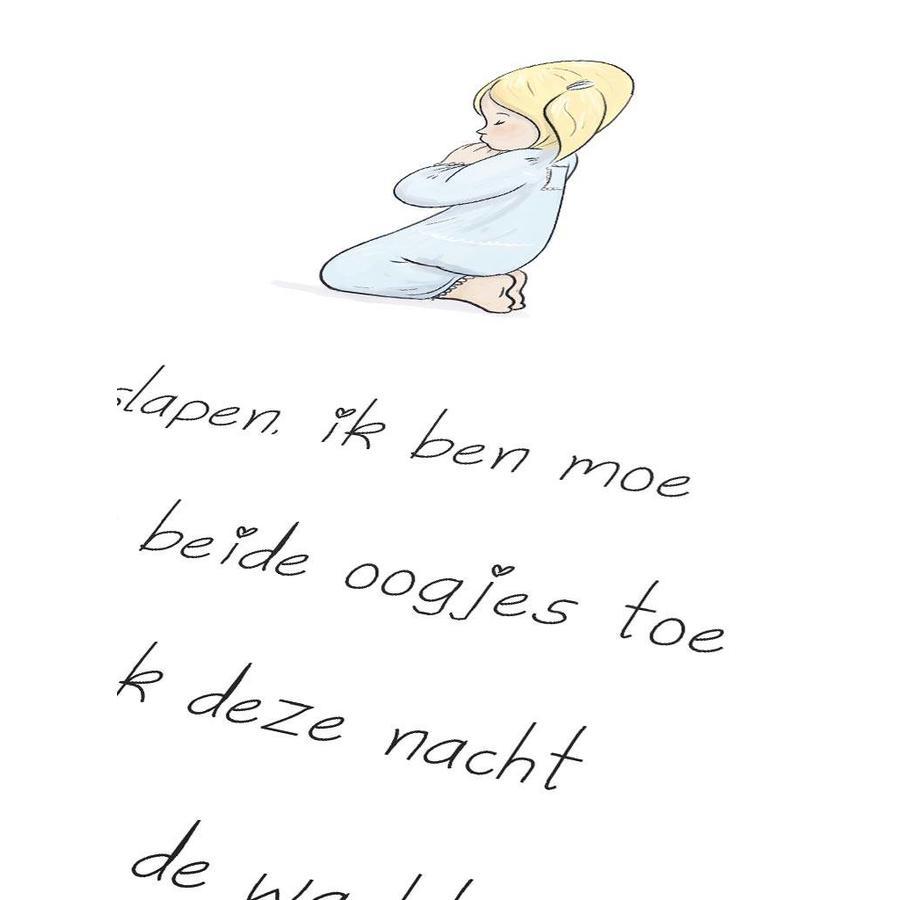 Poster christelijk kindergebed ik ga slapen ik ben moe-3