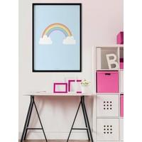 thumb-Poster kinderkamer regenboog met wolkjes blauw-4
