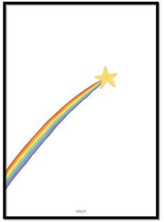 Lievespulletjes Poster regenboog shooting star
