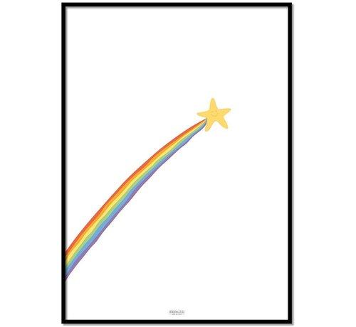 Lievespulletjes Poster kinderkamer: regenboog shooting star