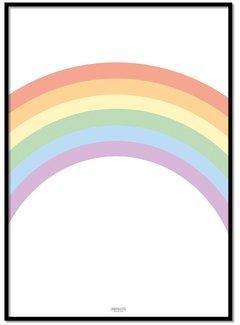 Lievespulletjes Poster pastel regenboog