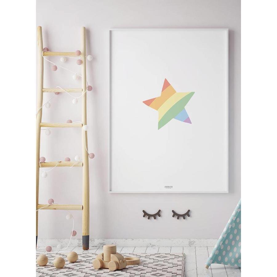 Poster kinderkamer regenboog ster-3