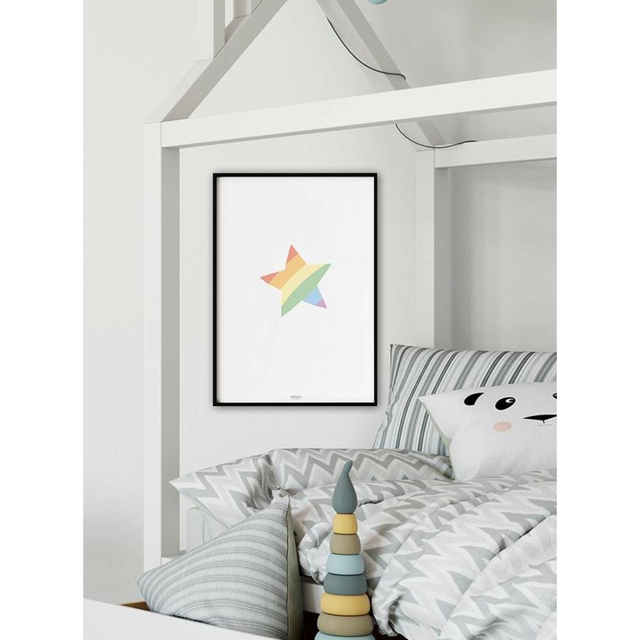 Poster kinderkamer regenboog ster-4