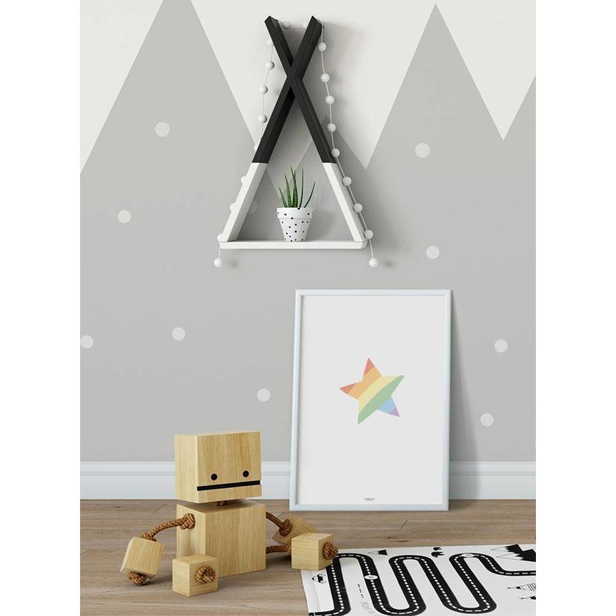 Poster kinderkamer regenboog ster-2