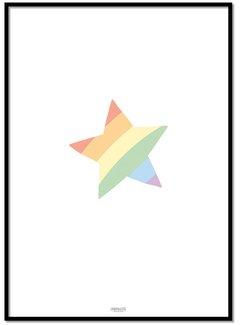 Lievespulletjes Poster kinderkamer regenboog ster