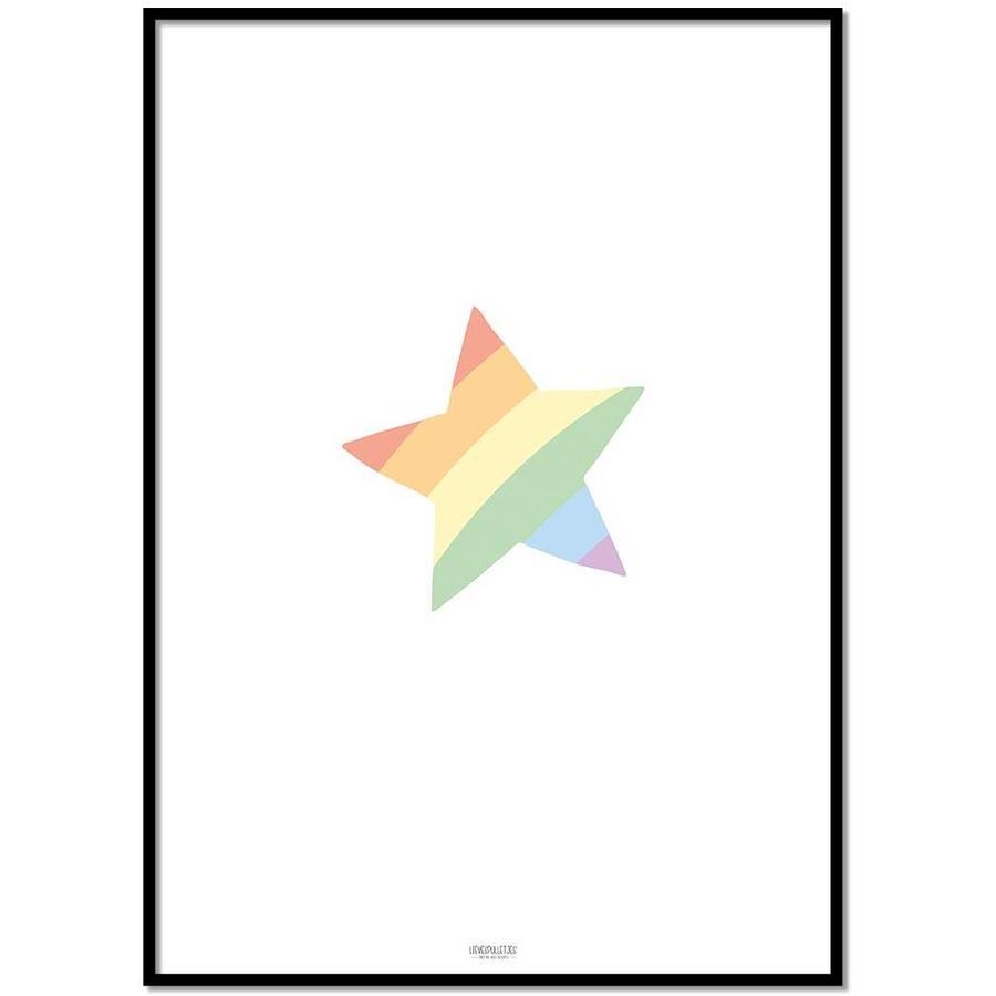 Poster kinderkamer regenboog ster-1