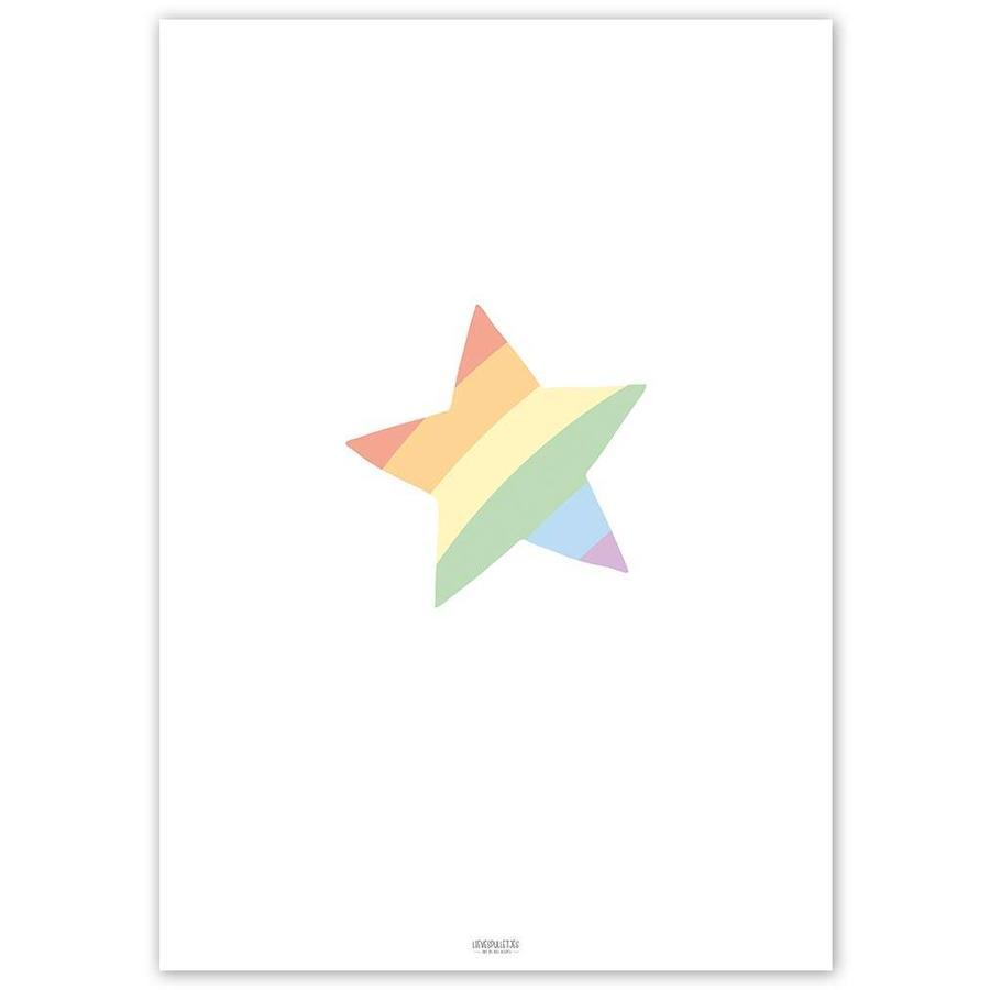 Poster kinderkamer regenboog ster-5