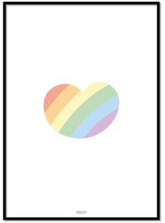 Lievespulletjes Poster regenboog hartje
