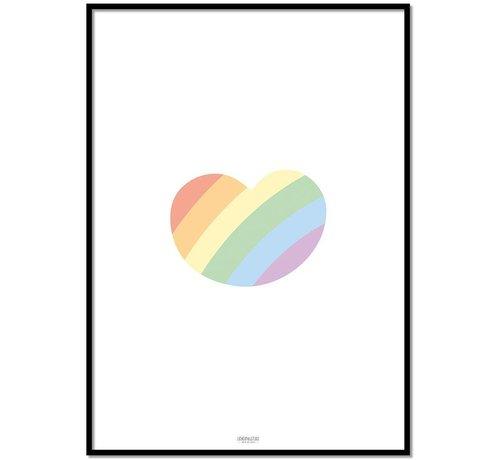 Lievespulletjes Poster kinderkamer regenboog hartje
