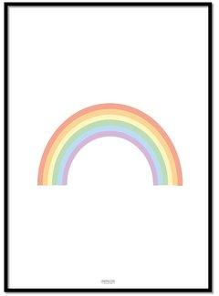 Lievespulletjes Poster kinderkamer regenboog pastel