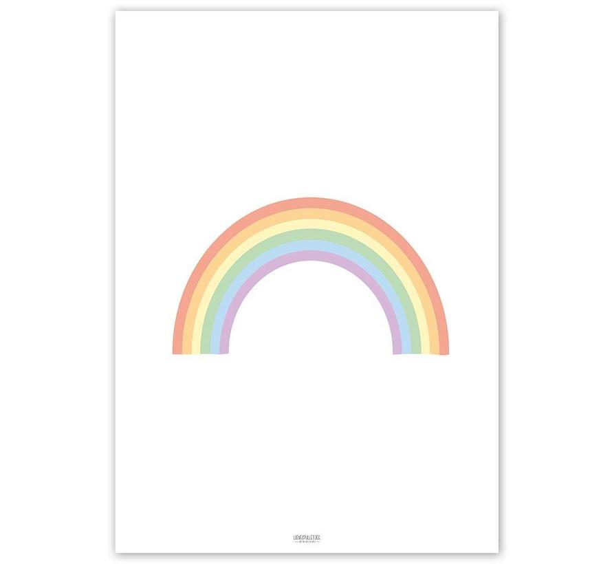Poster kinderkamer regenboog pastel