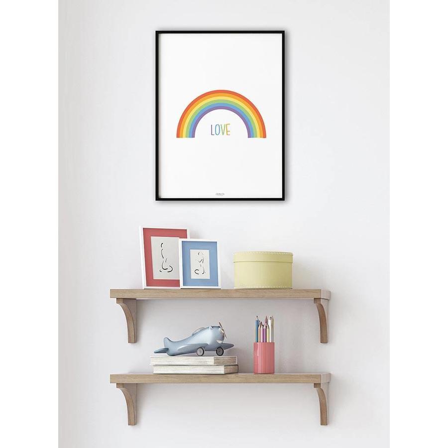 Poster kinderkamer regenboog love-4