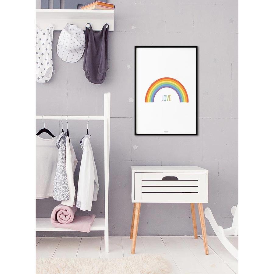 Poster kinderkamer regenboog love-2
