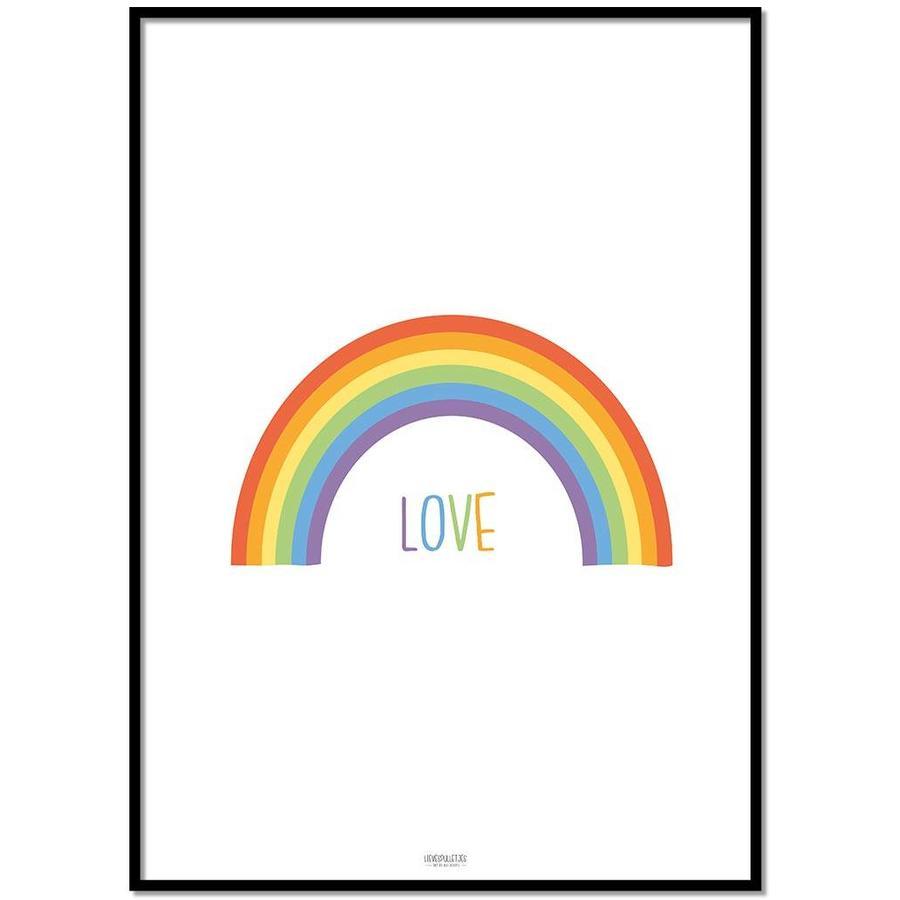 Poster kinderkamer regenboog love-1