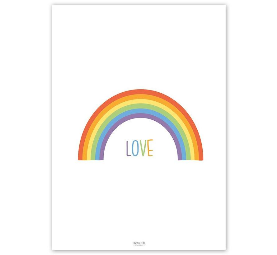 Poster kinderkamer regenboog love