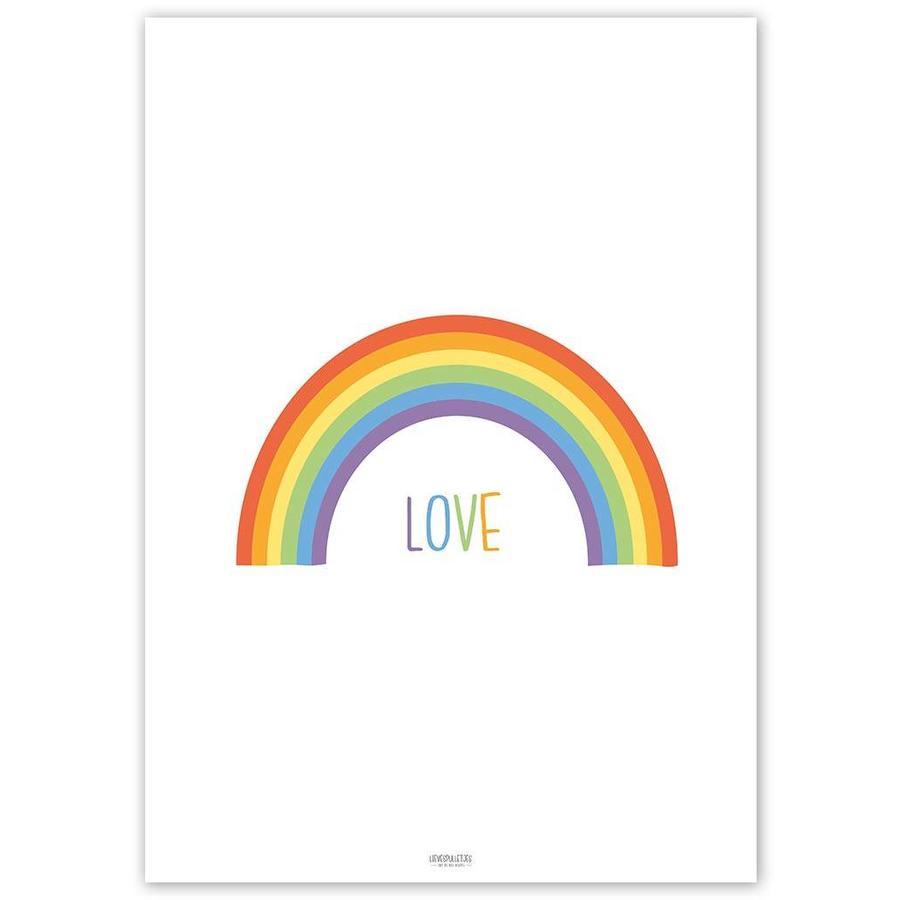 Poster kinderkamer regenboog love-5