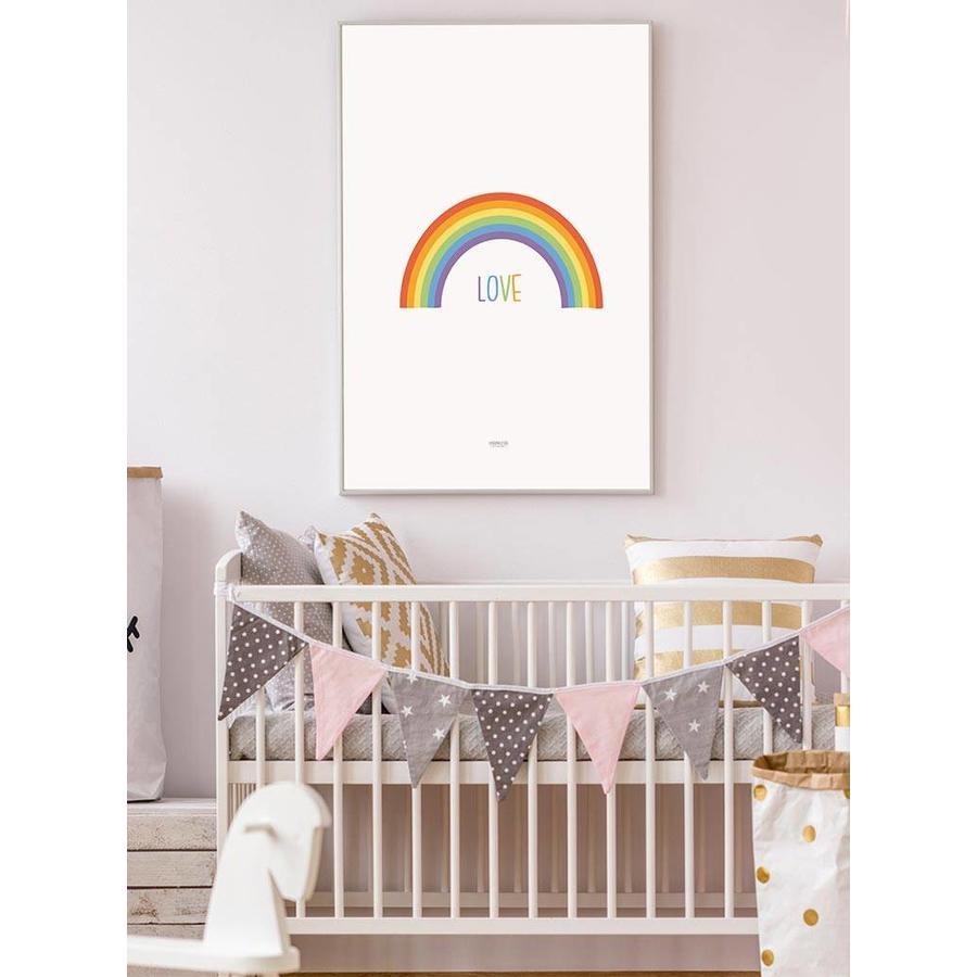 Poster kinderkamer regenboog love-6
