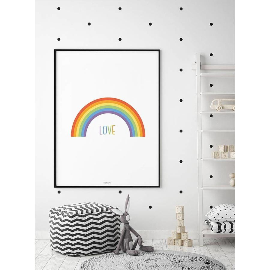 Poster kinderkamer regenboog love-7