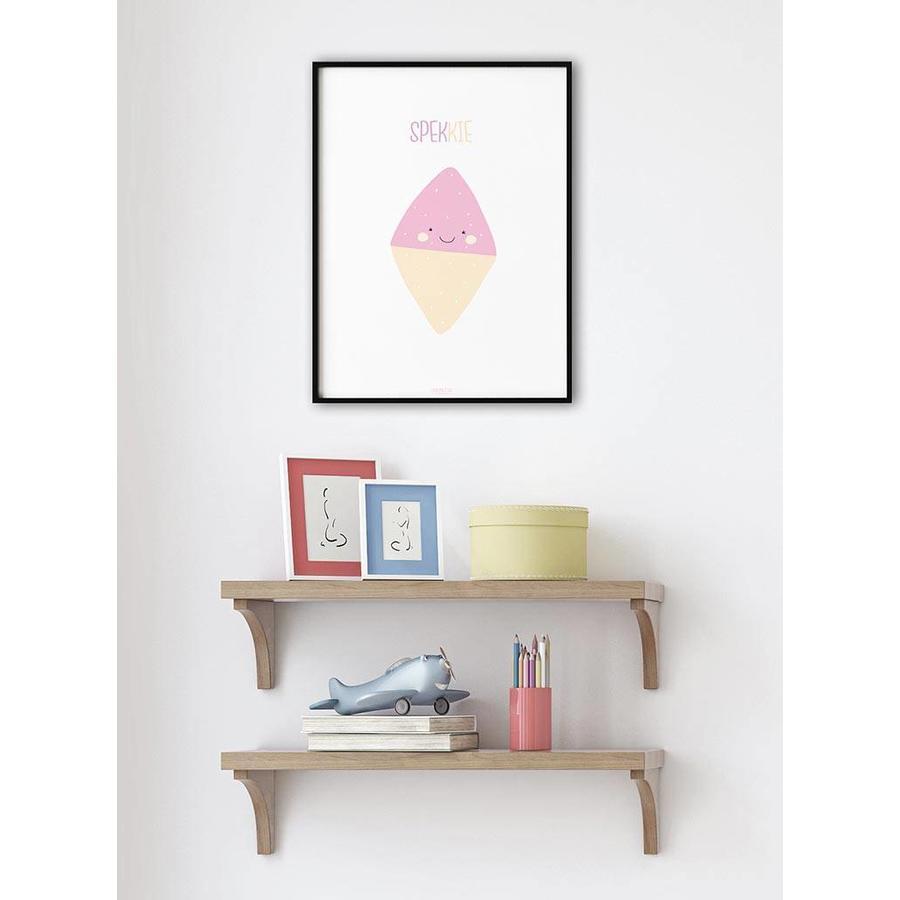 Poster babykamer spekkie met tekst-3
