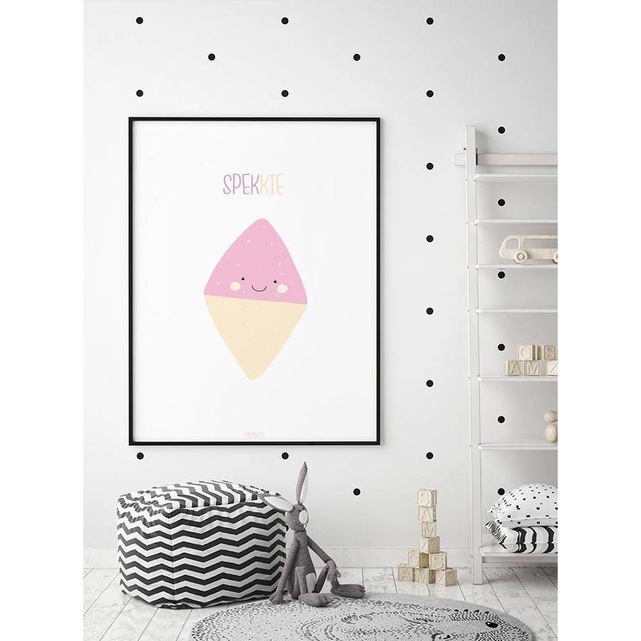 Poster babykamer spekkie met tekst-2