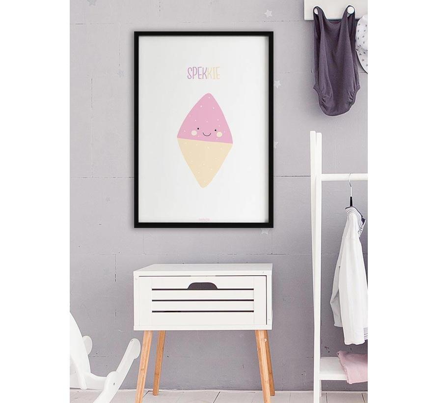 Poster babykamer spekkie met tekst