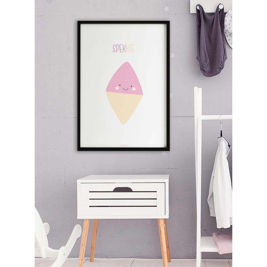 Poster babykamer spekkie met tekst-6