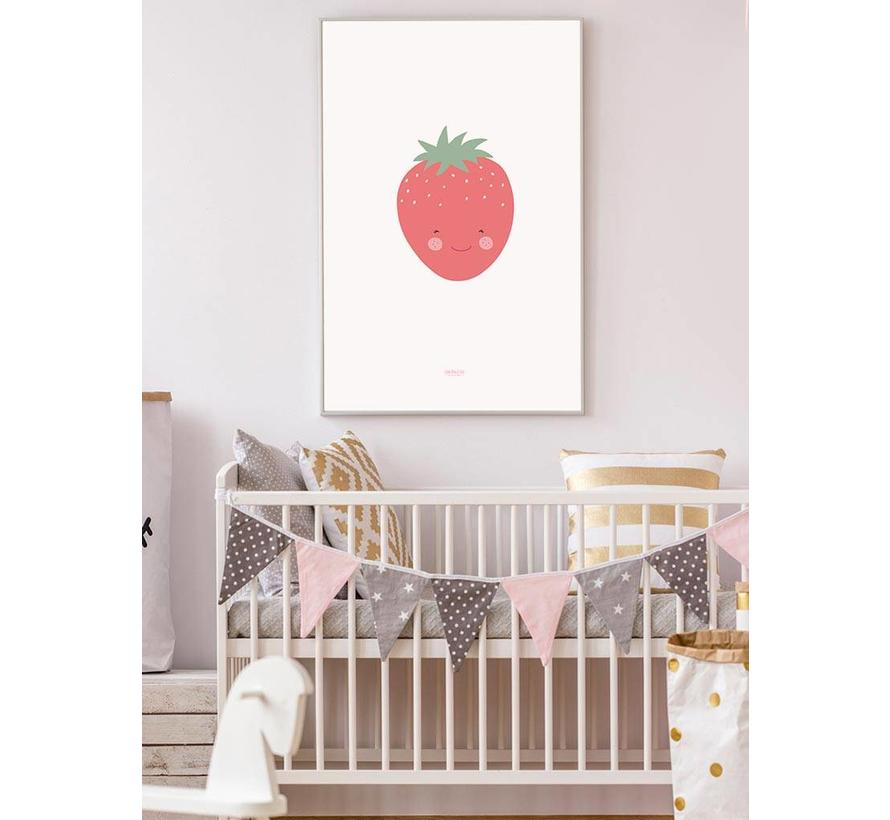 Poster babykamer aardbei