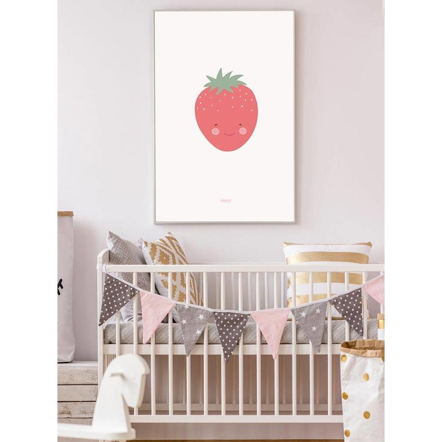 Poster babykamer aardbei-4