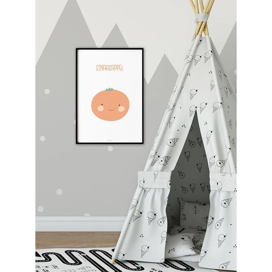 Poster babykamer sinaasappel - met tekst-4