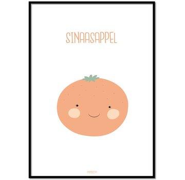Lievespulletjes Poster babykamer sinaasappel - met tekst