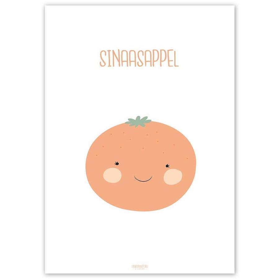 Poster babykamer sinaasappel - met tekst-5