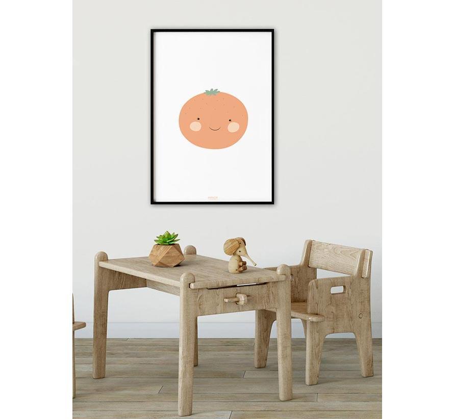 Poster babykamer sinaasappel