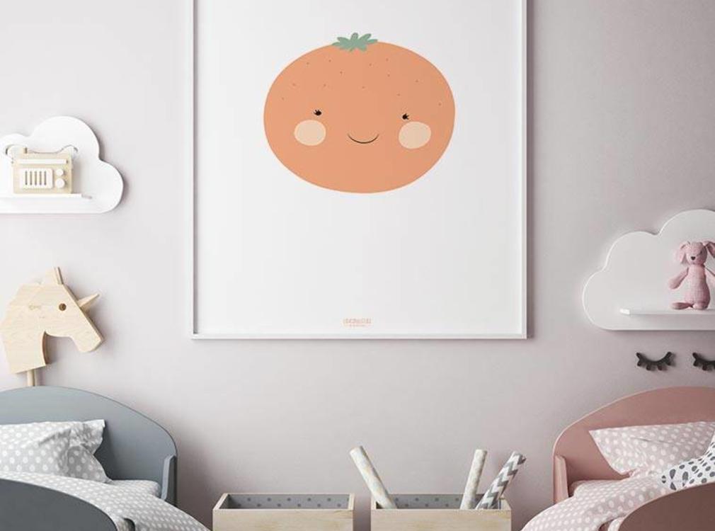 Poster Babykamer Pastel : Muurdecoratie babykamer lieve illustraties en designs